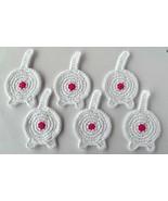 Cat Butt Coasters, Set of 6, White - Handmade Crochet - $32.94 CAD