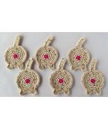 Cat Butt Coasters, Set of 6, Oatmeal - Handmade Crochet - $32.94 CAD