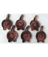Cat Butt Coasters, Set of 6, Tortoiseshell - Handmade Crochet - $32.94 CAD