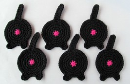 Cat Butt Coasters, Set of 6, Black - Handmade C... - $23.81 CAD