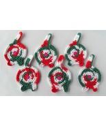 Cat Butt Coasters, Set of 6, Christmas Calico - Handmade Crochet - $32.94 CAD