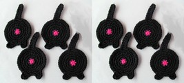 Cat Butt Coasters, Set of 8, Black - Handmade C... - $30.96 CAD