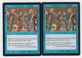 Insight x 2, LP, Tempest, Uncommon Blue, Magic the Gathering - $0.64 CAD