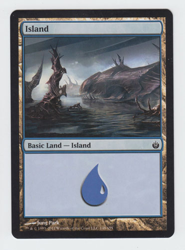 Island x 1, NM, Mirrodin Besieged,  Basic Land, Magic the Gathering