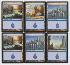 Island x 6, NM, Theros,  Basic Land, Magic the Gathering - $1.10 CAD