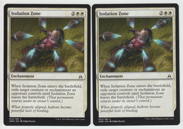 Isolation Zone x 2, NM, Oath of the Gatewatch, Common White, Magic the G... - $0.57 CAD