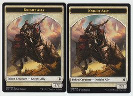 Knight Ally (005) x 2, NM, Battle for Zendikar,  Token, Magic the Gathering - $0.57 CAD