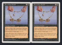 Krovikan Fetish x 2, LP, Fifth Edition, Common Black, Magic the Gathering - $0.58 CAD
