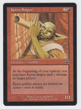 Kyren Sniper x 1, LP, Mercadian Masques, Common Red, Magic the Gathering - $0.39 CAD
