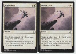 Mighty Leap x 2, NM, Oath of the Gatewatch, Common White, Magic the Gath... - $0.57 CAD