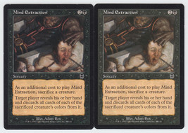 Mind Extraction x 2, HP, Apocalypse, Common Black, Magic the Gathering - $0.49 CAD