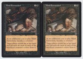 Mind Extraction x 2, HP, Apocalypse, Common Black, Magic the Gathering - $0.48 CAD