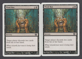 Mind Rot x 2, LP, Eighth Edition, Common Black, Magic the Gathering - $0.61 CAD