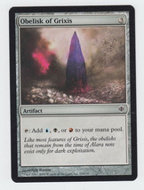 Obelisk of Grixis x 1, LP, Shards of Alara, Common Artifact, Magic the G... - $0.35 CAD