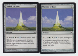 Obelisk of Bant x 2, LP, Shards of Alara, Common Artifact, Magic the Gat... - $0.45 CAD