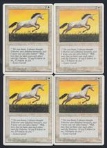 Pearled Unicorn x 4, CI, Fourth Edition, Common White, Magic the Gathering - $0.95 CAD