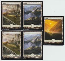 Plains x 5, NM, Battle for Zendikar,  Basic Land, Magic the Gathering - $2.37 CAD