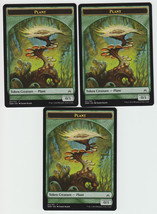 Plant (011) x 3, NM, Oath of the Gatewatch,  Token, Magic the Gathering - $0.80 CAD