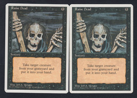 Raise Dead x 2, LP, Fourth Edition, Common Black, Magic the Gathering - $0.58 CAD