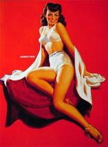 """Al Buell Pin-up girl 9""""x12"""" Poster Print Hot White Shorts Sexy Legs! - $9.74"""
