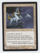 Revered Unicorn x 1, LP, Weatherlight, Uncommon White, Magic the Gathering - $0.42 CAD