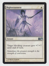 Righteousness x 1, NM, Magic 2010, Uncommon White, Magic the Gathering - $0.44 CAD