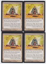Righteous Aura x 4, CI, Visions, Common White, Magic the Gathering - $0.77 CAD