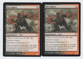 Riot Spikes x 2, LP, Dissension, Common Hybrid, Magic the Gathering - $0.51 CAD