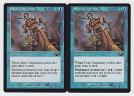 Sisay's Ingenuity x 2, LP, Planeshift, Common Blue, Magic the Gathering - $0.57 CAD