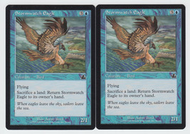 Stormwatch Eagle x 2, LP, Prophecy, Common Blue, Magic the Gathering - $0.57 CAD