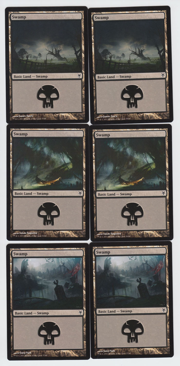Swamp x 6, NM, Sorin vs. Tibalt,  Basic Land, Magic the Gathering