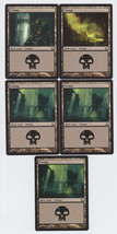 Swamp x 5, NM, Return to Ravnica,  Basic Land, Magic the Gathering - $1.01 CAD