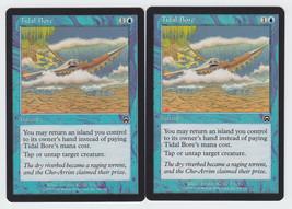 Tidal Bore x 2, LP, Mercadian Masques, Common Blue, Magic the Gathering - $0.57 CAD