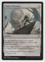 Titan's Presence x 1, NM, Battle for Zendikar, Uncommon Colourless, Magi... - $0.53 CAD