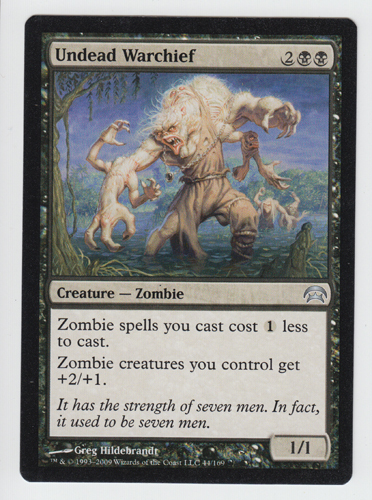 Undead Warchief x 1, NM, Planechase, Uncommon Black, Magic the Gathering