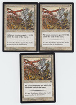 Warrior's Charge x 3, LP, Portal, Common White, Magic the Gathering - $0.70 CAD