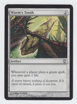 Wurm's Tooth x 1, HP, Darksteel, Uncommon Artifact, Magic the Gathering - $0.36 CAD