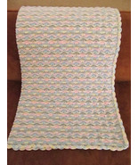 Crochet Baby Blanket, Multi-Colour Waves, Very Soft - Handmade - $233.91 CAD