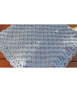 Soft Crochet Baby Blanket, Light Blue - Handmade - $71.65 CAD