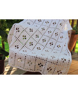 Crochet Cotton Midwife Baby Blanket, Natural Beige - Handmade - $101.30 CAD