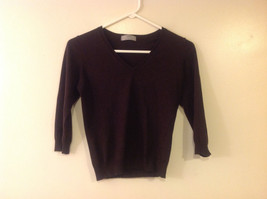 Marks and Spencer Women US Size 8 Scoop Sweater Dark Chocolate Brown UK Size 12
