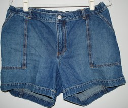GAP Maternity Denim Jean Shorts 100% Cotton - No Band, Adjustable Waist Size 12 - $19.79