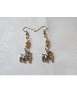 Handcrafted Pierced Earrings Bulldogs And Beads - $6.00
