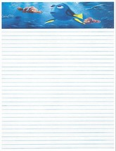 Kid's Camp Finding Dory Lined Stationery Paper 26 Sheets - $11.87