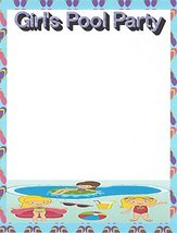 Girl's Pool Party Stationery Printer Paper 26 Sheets - $9.99