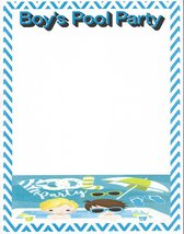 Boy's Pool Party Stationery Printer Paper 26 Sheets - $9.99