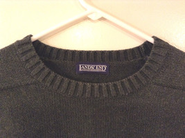Lands' End Men's Size L Sweater Dark Green Crew Neck Long Sleeves Heavy Knit image 2
