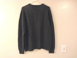 Lands' End Men's Size L Sweater Dark Green Crew Neck Long Sleeves Heavy Knit image 4