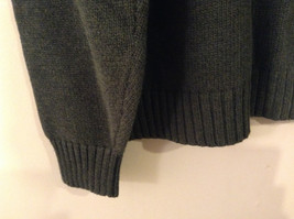 Lands' End Men's Size L Sweater Dark Green Crew Neck Long Sleeves Heavy Knit image 3