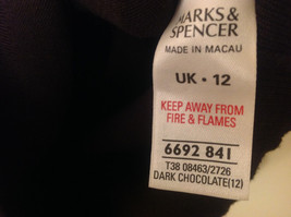 Marks and Spencer Women US Size 8 Scoop Sweater Dark Chocolate Brown UK Size 12 image 5